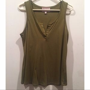 ☀️EUC Philosophy Olive Green Tank Top Blouse Top