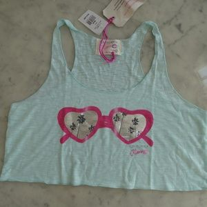 NWT California Kisses lounge crop tank top size M