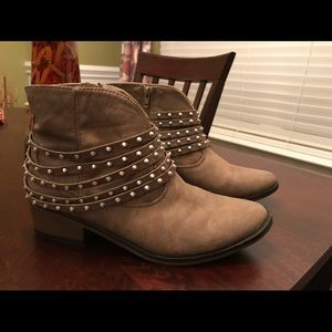 Stud Ankle Boot from JUSTFAB