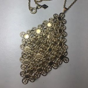 Vintage Sarah Coventry Gold Flower Mesh Necklace