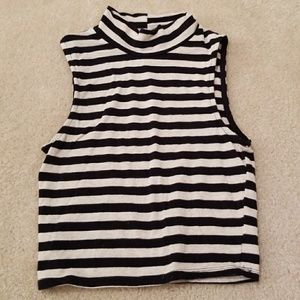 Heart & Hips Stripped Crop Top Size S