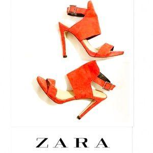 Zara bright red heels