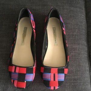 Diane Von Furstenberg colorful slip on shoes