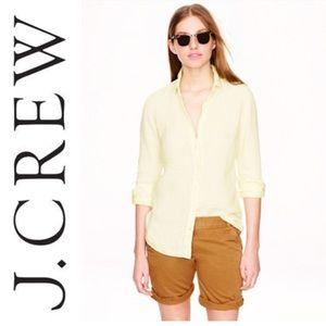 J. Crew Perfect Shirt in Crosshatch Linen