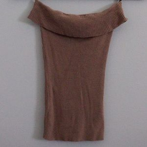 Bebe coco beach nude ribbed tube top, size small