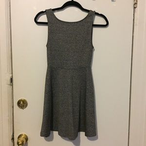 Gray Backless dress