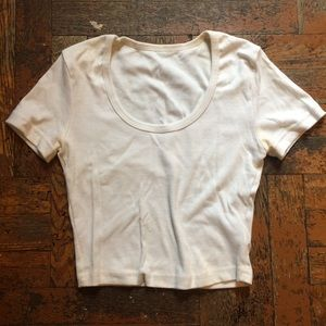 American Apparel white crop top