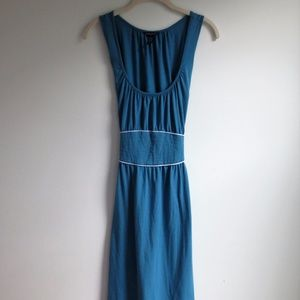 Banana Republic Stretch Blue Sleeveless Dress