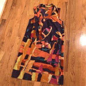 Ali Ro Silk Ruffle Dress