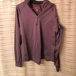 Half zip pullover hoodie