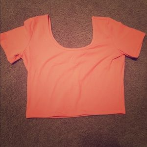 Forever 21 coral crop top