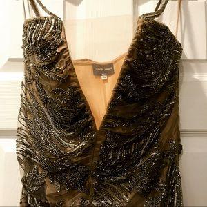 Long, Beaded Couture Giorgio Armani Dress!