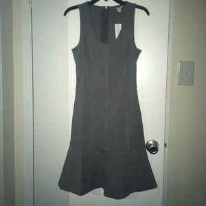 Banana Republic gray flare sleeveless dress 4 tall