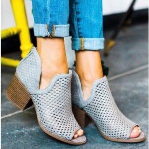 Shoes - Peep toe cutout booties.