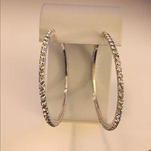 Jewelry - Rhinestone hoop earrings