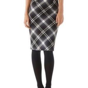 White House Black Market Bristol plaid skirt