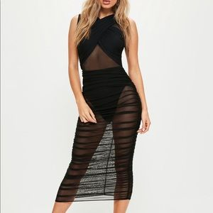 BRAND NEW MISSGUIDED black mesh dress