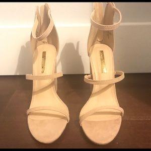*NEW* Size 8 Lulus nude block heels!