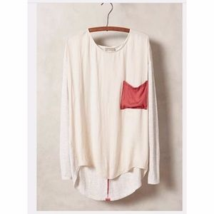 ☀️EUC Anthropologie Dolan Colorblocked Pocket Top