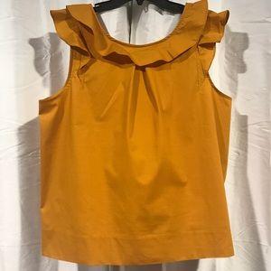 J. crew mustard blouse New