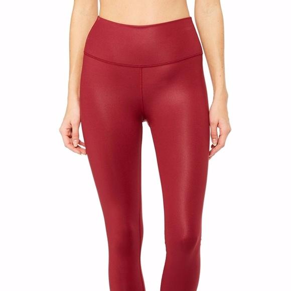ded9918b23 ALO Yoga Pants   Alo Highwaist Airbrush Legging Red Velvet Glossy ...