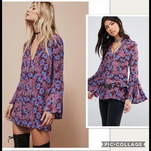 NWT Free People Magic Mystery Floral Tunic Dress