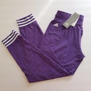 Purple Adidas Cropped Jogger Sweatpants Size XS