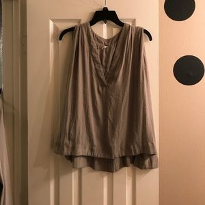 Olive free people flowy sleeveless top