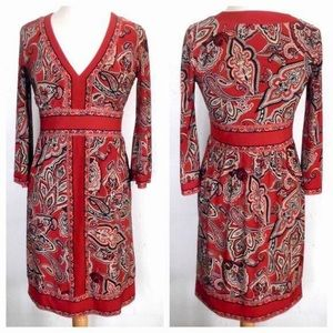 HP INC Red Paisley Dress.. NBW