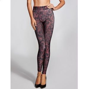 Guess Lace Rose Leggings Small