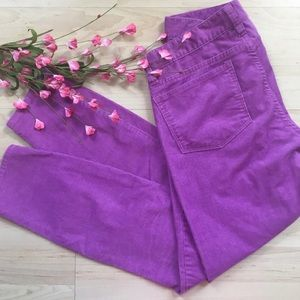 J. Crew toothpick skinny lilac purple cords