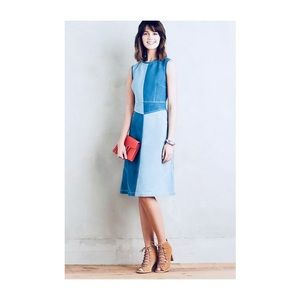 ANTHROPOLOGIE PIECED DENIM DRESS BY HOLDING HORSES