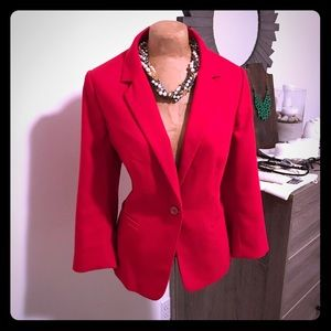 The Limited red fitted blazer