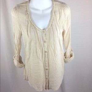 Anthropologie E (hanger) M Button-Up Blouse (S)