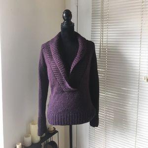 LOFT shawl collar wool/alpaca blend sweater