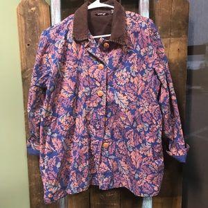 Leaf patterned jacket 🍁🍂