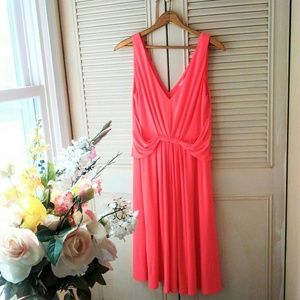 Tahari | Coral Gathered Dress