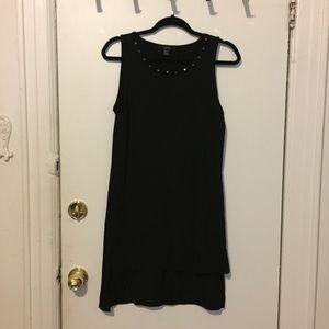 Black high low dress w/ studs