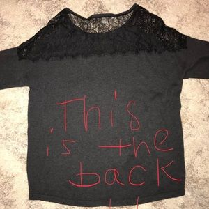 Gorgeous Women's Sweater w/Lace Detail/Large