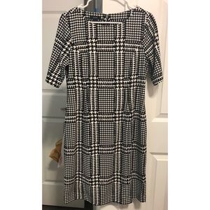Fitted Houndstooth Dress