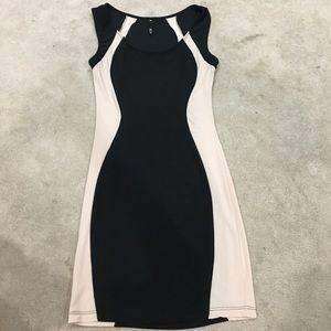 Short Black and Tan Dress