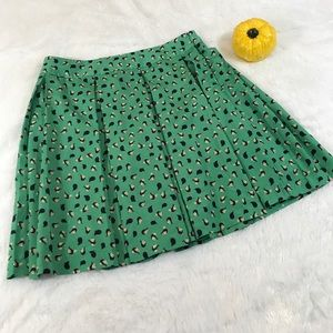 Collective Concepts pleated Skirt Medium green