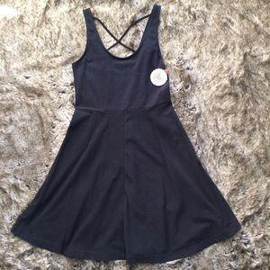 So Black Skater Style Dress