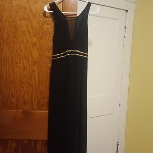 Charlotte Russe Maxi dress with mesh plunge