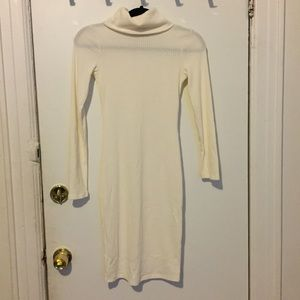 BRAND NEW! NEVER WORN!! Cream Turtleneck dress