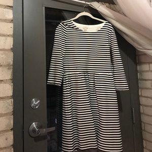 J. Crew striped dress.