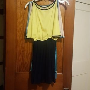 Lot of 2 cold shoulder flowy dresses