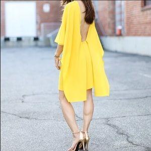 Zara Yellow Open Back Dress