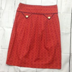 Anthropologie Madchen Red Skirt