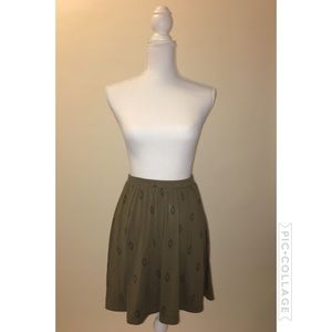 old navy olive green skater skirt